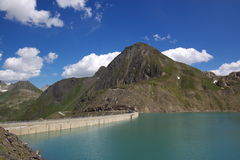 Dam in Swiss mountains Stock Photography