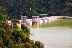 Dam at Ter river. Sau reservoir Royalty Free Stock Images
