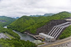 Dam in Thailand Royalty Free Stock Photo