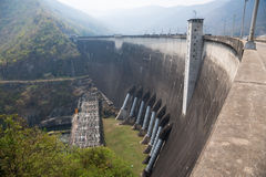 Dam in Thailand. Bhumibol dam in Thailand with capacity of 13,462,000,000 cubic Stock Images