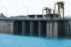 A Dam in Thailand. Royalty Free Stock Photo