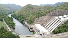 Dam to generate electricity Royalty Free Stock Photos