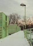 Dam Units on Bridge During Winter Stock Photos