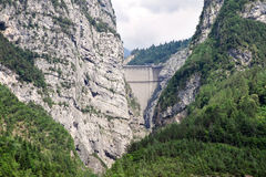 Dam Vaiont. Province Belluno, Italy. Royalty Free Stock Image