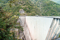 Dam in Val Verzasca (Tessin - Switzerland) Stock Image