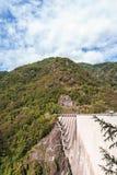 Dam in Val Verzasca (Tessin - Zwitserland) Stock Fotografie