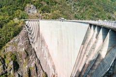 Dam in Val Verzasca (Tessin - Zwitserland) Royalty-vrije Stock Foto