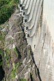 Dam in Val Verzasca (Tessin - Zwitserland) Stock Foto
