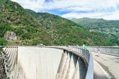 Dam in Val Verzasca (Tessin - Zwitserland) Royalty-vrije Stock Fotografie