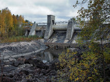 Dam van de waterkrachtcentrale in Imatra royalty-vrije stock foto
