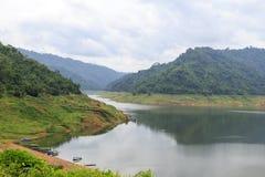Dam van Khun Dan Prakan Chon Stock Afbeeldingen
