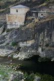 Dam van La Oliva van Ponton DE tussen Guadalajara en Madrid provinc Royalty-vrije Stock Fotografie