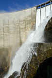 The dam of Verzasca on the italian part of Swtzerland Stock Photography