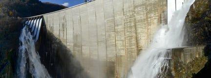 The dam of Verzasca on the italian part of Swtzerland Stock Photos