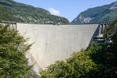 The dam of Verzasca on the Swiss alps Royalty Free Stock Photo