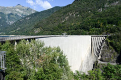 The dam of Verzasca on the Swiss alps Royalty Free Stock Image