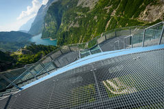 Dam. View from Kaprun dam wall-the highest power plant in Austria Stock Image