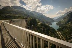 Dam. View from Kaprun dam wall-the highest power plant in Austria Stock Photo