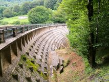 Dam. View of the Leurtza reservoir in Navarra, Spain Stock Images