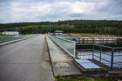 Dam on the Vltava river Royalty Free Stock Images