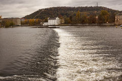 Dam on the Vltava Royalty Free Stock Images