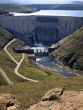 Dam wall. View of Katse dam wall in Lesotho, southern africa, part of the highland's water project, supplying electricity Royalty Free Stock Image