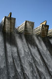 Dam Wall. With water falling Stock Images