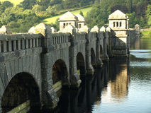Dam wall. On lake vyrnwy powys Royalty Free Stock Image