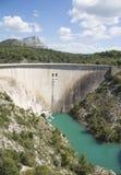 Dam wall in Bimont park, Provence Stock Photo