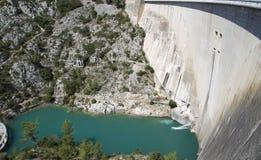 Dam wall in Bimont park, Provence Stock Photos
