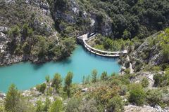 Dam wall in Bimont park, Provence Royalty Free Stock Image