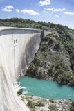 Dam wall in Bimont park, Provence Royalty Free Stock Photos