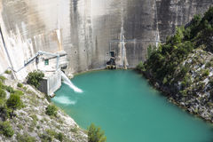 Dam wall in Bimont park, Provence Royalty Free Stock Photography