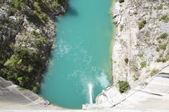 Dam wall in Bimont park, Provence Stock Photography