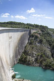 Dam wall in Bimont park, Provence Stock Images
