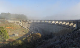 The dam wall at Carcoar NSW Australia Stock Photography