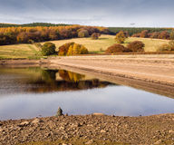 Dam wall. At Fernilee Reservoir, The Goyt Valley, Peak District, UK Royalty Free Stock Photos