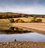Dam wall. At Fernilee Reservoir, The Goyt Valley, Peak District, UK Stock Photography