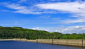 The Dam wall at Haweswater Reservoir, Cumbria, England. royalty free stock images