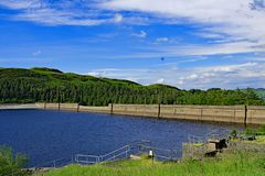 The Dam wall at Haweswater Reservoir 2, Cumbria, England. royalty free stock image