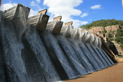 Dam Wall Landscape. Landscape image of dam wall on a windy day Stock Photo