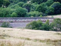 Dam wall in lyme park cheshire Royalty Free Stock Images