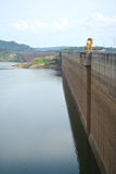 Dam Wall in Thailand. Royalty Free Stock Image