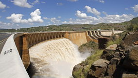 Dam wall time lapse Stock Image