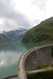 Dam wall upper lake kaprun. Shot between the two walls Stock Photo