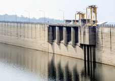 Dam wall Royalty Free Stock Photography