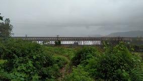 Dam. Water, nature, Green Stock Image