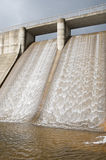 Dam Water To Generate Energy Stock Image