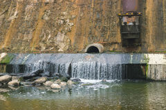 Dam waterfall dried up Royalty Free Stock Photos