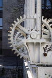 Dam wheel cogs Royalty Free Stock Image